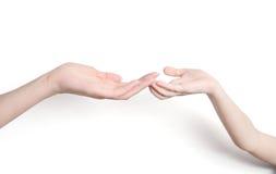 Childss und der Hand des Erwachsenen Stockfotografie