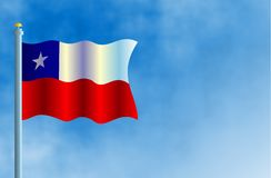 Chile. National flag of Chile Stock Image