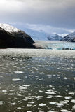Chile - Amalia Glacier In A Cloudy Day Royalty Free Stock Photos