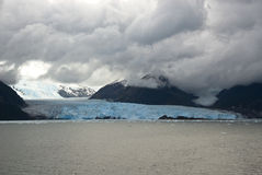 Chile - Amalia Glacier In A Cloudy Day Royalty Free Stock Image
