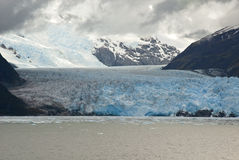 Chile - Amalia Glacier In A Cloudy Day Stock Photo