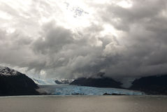 Chile - Amalia Glacier Dramatic Landscape Royalty Free Stock Images