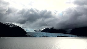 Chile - Amalia Glacier Landscape. Chile - South Patagonia - Amalia Glacier in a cloudy day- Skua Glacier - Bernardo O'Higgins National Park stock footage