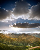 Chile Andes. Beautiful Andes Mountains in Chile stock photos