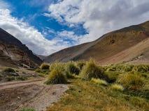 Chile Atacama ökensikt i bergen fotografering för bildbyråer