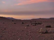 Chile atacama pustyni widok z zmierzchem fotografia stock