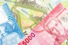 Chile banknoty zdjęcie royalty free