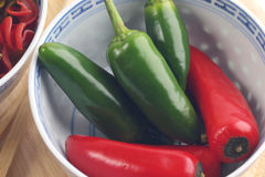 Chile Bowl. Chiles in a bowl Royalty Free Stock Photos