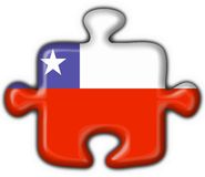 Chile button flag puzzle shape Stock Image