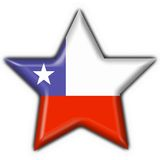 Chile button flag star shape Stock Images