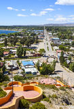 Chile Chico town. Chile Chico town in General Carrera Province, Aisen Region, Patagonia, Chile. The town is 6 km (4 mi) west of the border with Argentina, and 8 Stock Photo
