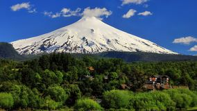Chile 2015. Famous volcano Villarrica Stock Photos