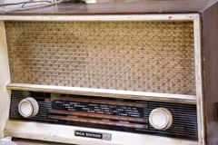 Old radio receiver used in Chile. Royalty Free Stock Photo