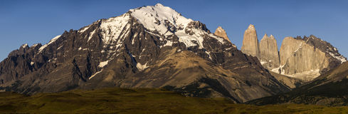 chile Del Paine patagonia torres Obrazy Royalty Free