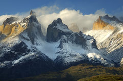 chile del paine patagoniatorres Arkivfoto