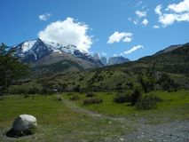 chile del paine torres Royaltyfri Bild