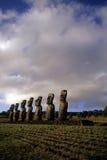 chile Easter wyspy moai Fotografia Stock