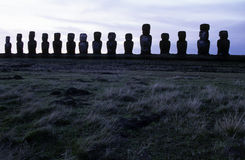 chile Easter wyspy moai Obraz Royalty Free