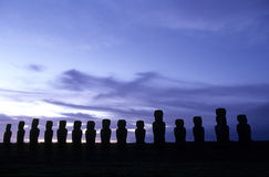 chile Easter wyspy moai Obrazy Royalty Free