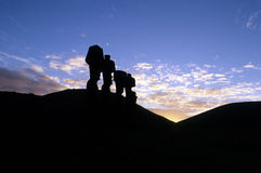 chile Easter wyspy moai Obraz Royalty Free