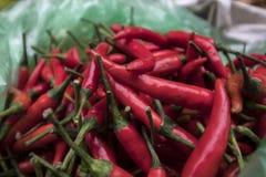 Chile en Lao Cai Market, Vietnam foto de archivo