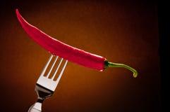 Chile en una fork imagen de archivo