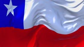 14 Chile fahnenschwenkend Wind-im ununterbrochenen nahtlosen Schleifen-Hintergrund stock abbildung
