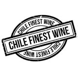 Chile Finest Wine rubber stamp. Grunge design with dust scratches. Effects can be easily removed for a clean, crisp look. Color is easily changed Stock Photos