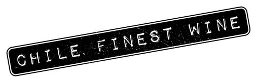 Chile Finest Wine rubber stamp Royalty Free Stock Image