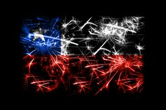 Chile fireworks sparkling flag. New Year 2019 and Christmas party concept. Chile fireworks sparkling flag. New Year 2019 and Christmas party concept royalty free illustration