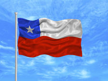 Chile Flag 1 Royalty Free Stock Image