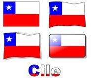 Chile Flag Stock Photo