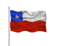 Chile Flag 2 Royalty Free Stock Images