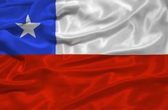 Chile Flag 3 Royalty Free Stock Image
