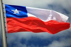 chile flagę Zdjęcia Royalty Free