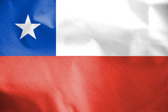 chile flagę Fotografia Royalty Free