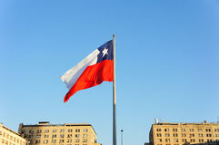 Chile Flag. In the front of president house Royalty Free Stock Photos