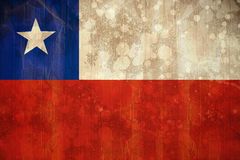 Chile flag in grunge effect Stock Image