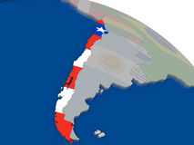 Chile with flag Royalty Free Stock Photography