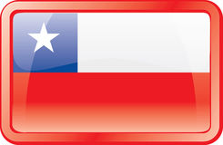 Chile Flag Icon Stock Image