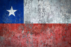 Chile Flag painted on a Wall. Ddistressed Painting of a Flag on an old Wall Royalty Free Stock Photo
