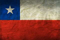 Chile Flag on Paper. Flag on an old Paper Texture Royalty Free Stock Photo