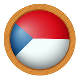 Chile flag on round button Royalty Free Stock Photography