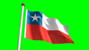 Chile flag stock video footage