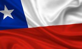 chile flaga Zdjęcia Stock