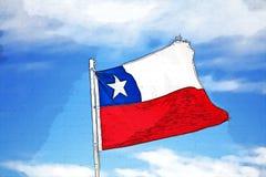 chile flagga vektor illustrationer
