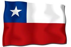 chile flagga Fotografering för Bildbyråer