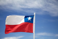 chile flagga Royaltyfri Fotografi