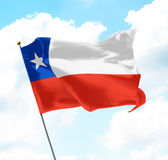 chile flagga Royaltyfri Bild