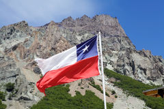 chile flagga Royaltyfria Bilder
